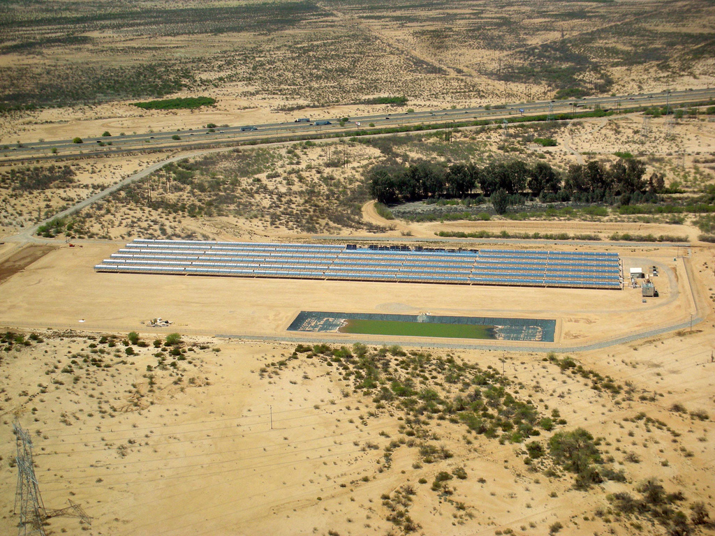 solar power in the desert